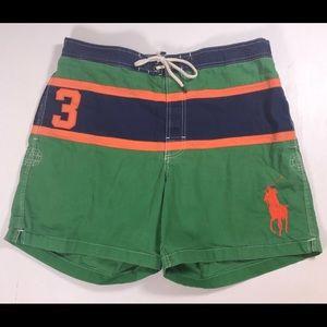 Polo Ralph Lauren men swim trunks shorts XL green